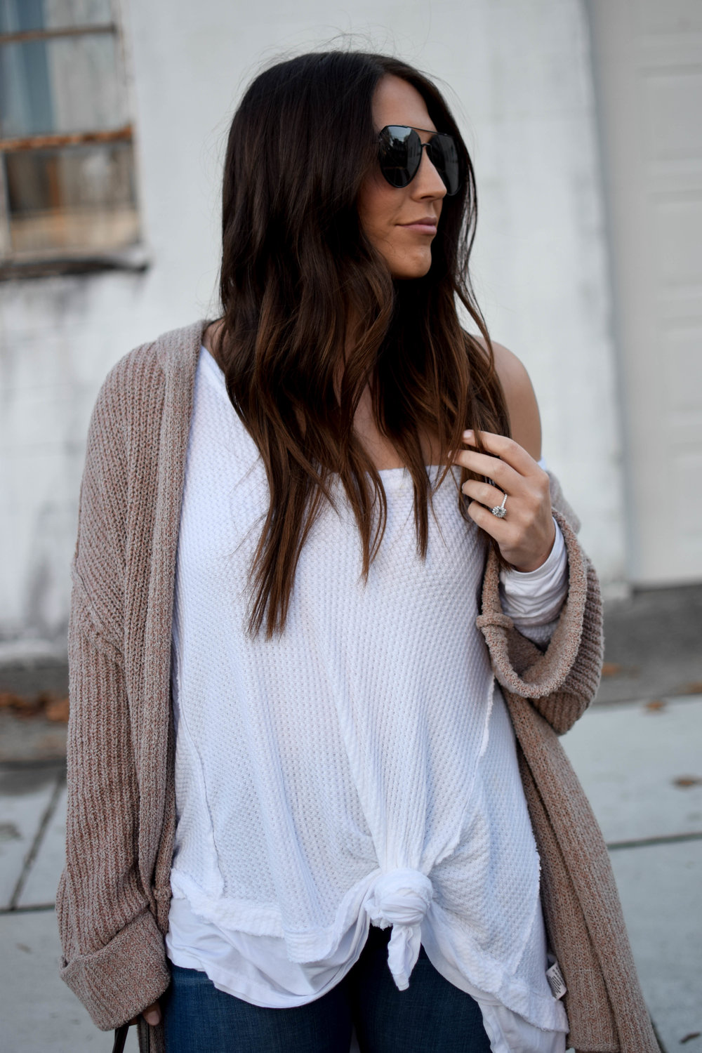 fall fashion / fall outfit idea / fall outfit inspiration / free people thermal / free people cardigan / fall feels / fall vibes