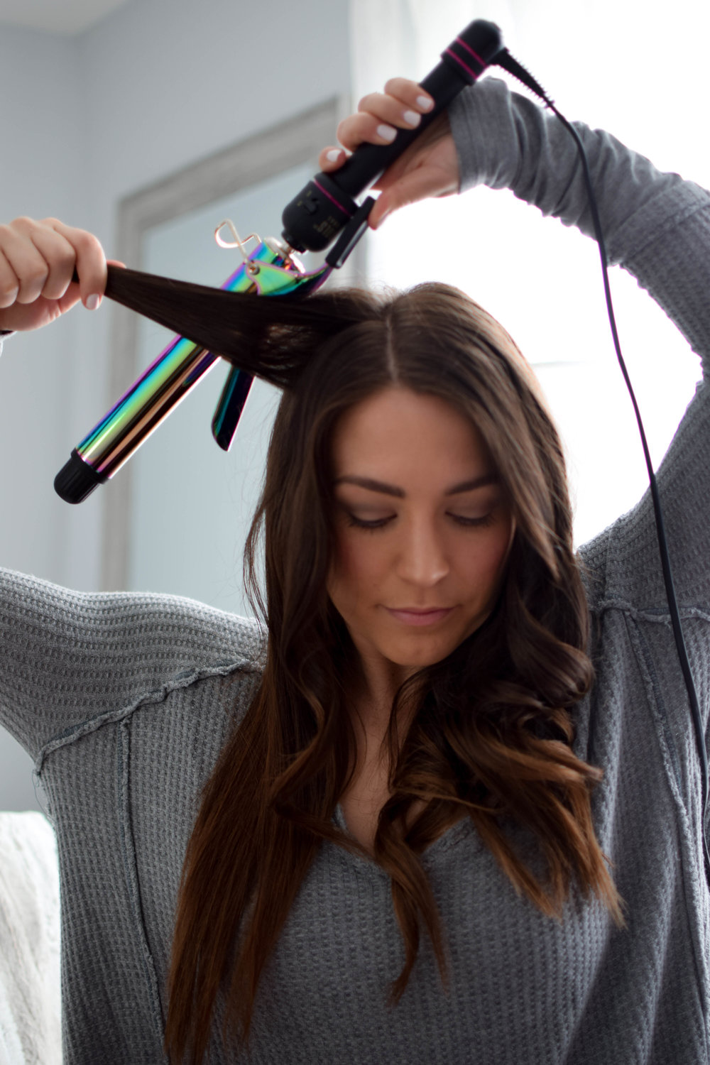 every day waves hair tutorial / how to curl your hair