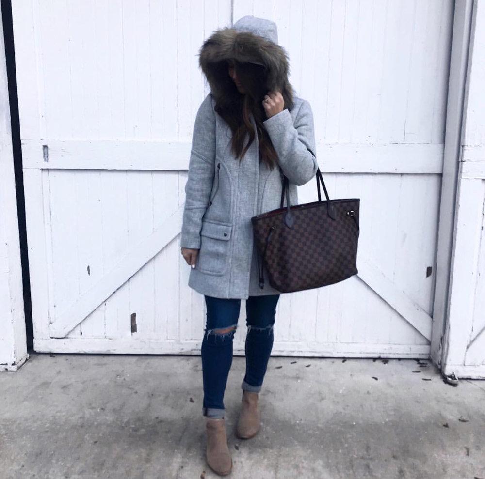 j crew coat / winter coat / winter outfit idea