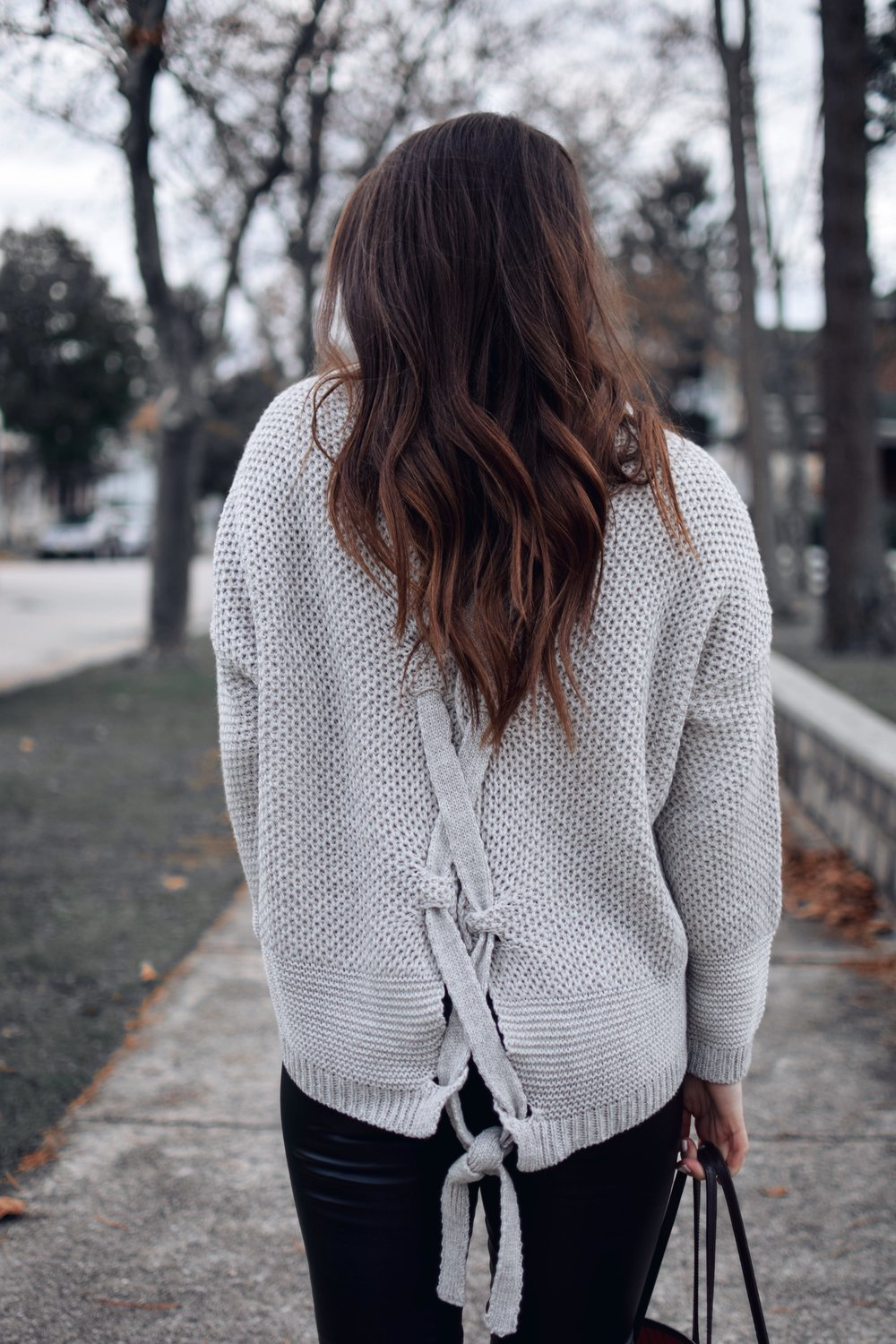 My Outfits On Sale | Pine Barren Beauty | black Friday sales, lace up sweater, fall outfit idea, winter outfit idea, hair goals