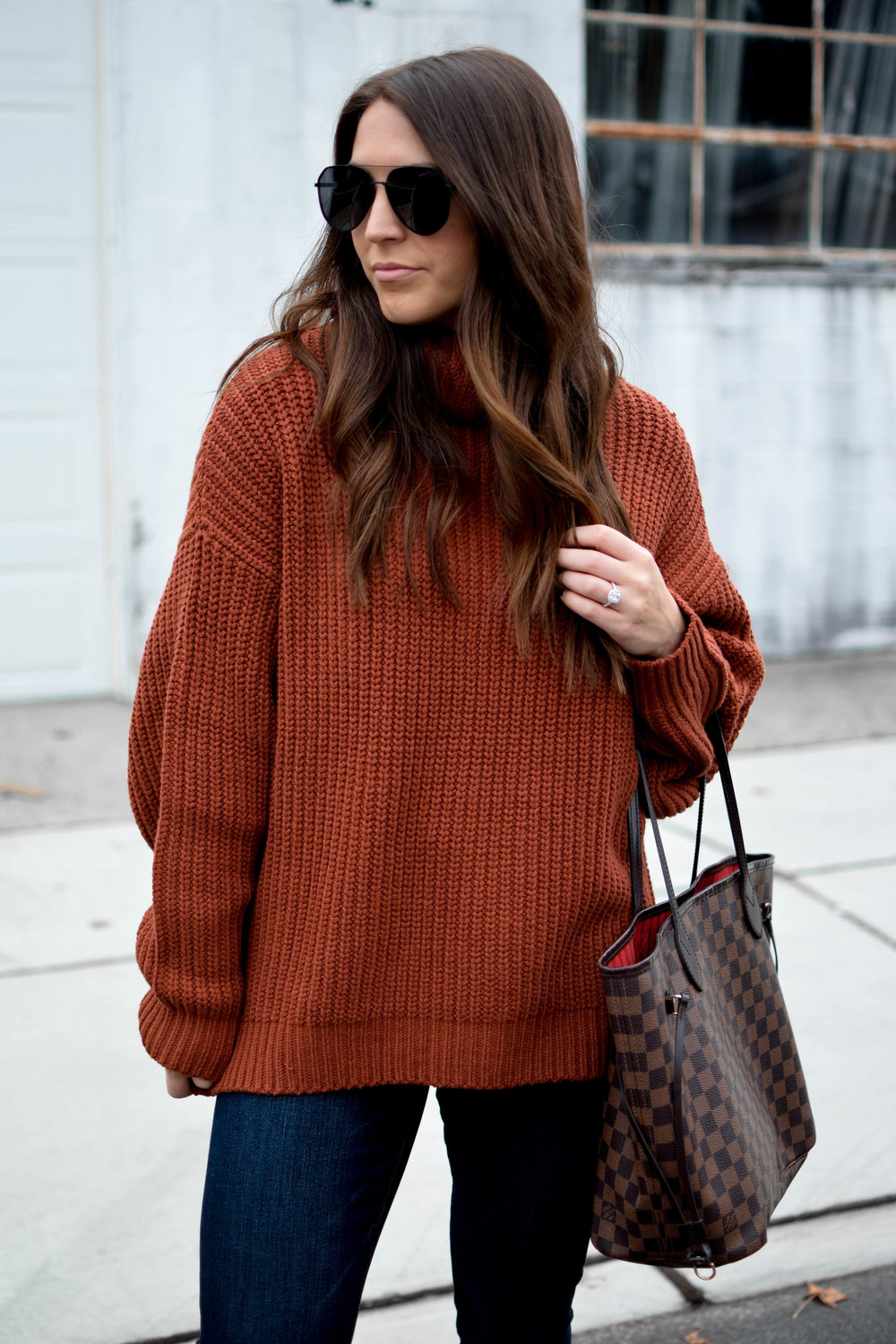 My Outfits On Sale | Pine Barren Beauty | free people sweater, chunky sweater, cozy sweater, fall outfit idea, winter outfit idea, black Friday sales