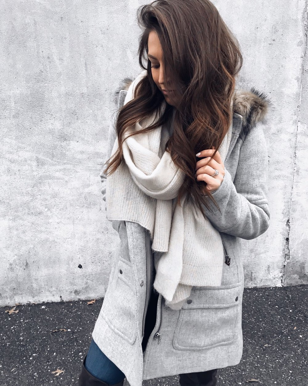 Weekend Sales & Instagram Round Up | Pine Barren Beauty | winter fashion, winter outfit idea, winter coat, jcrew coat, must have jcrew coat, free people scarf, winter essentials