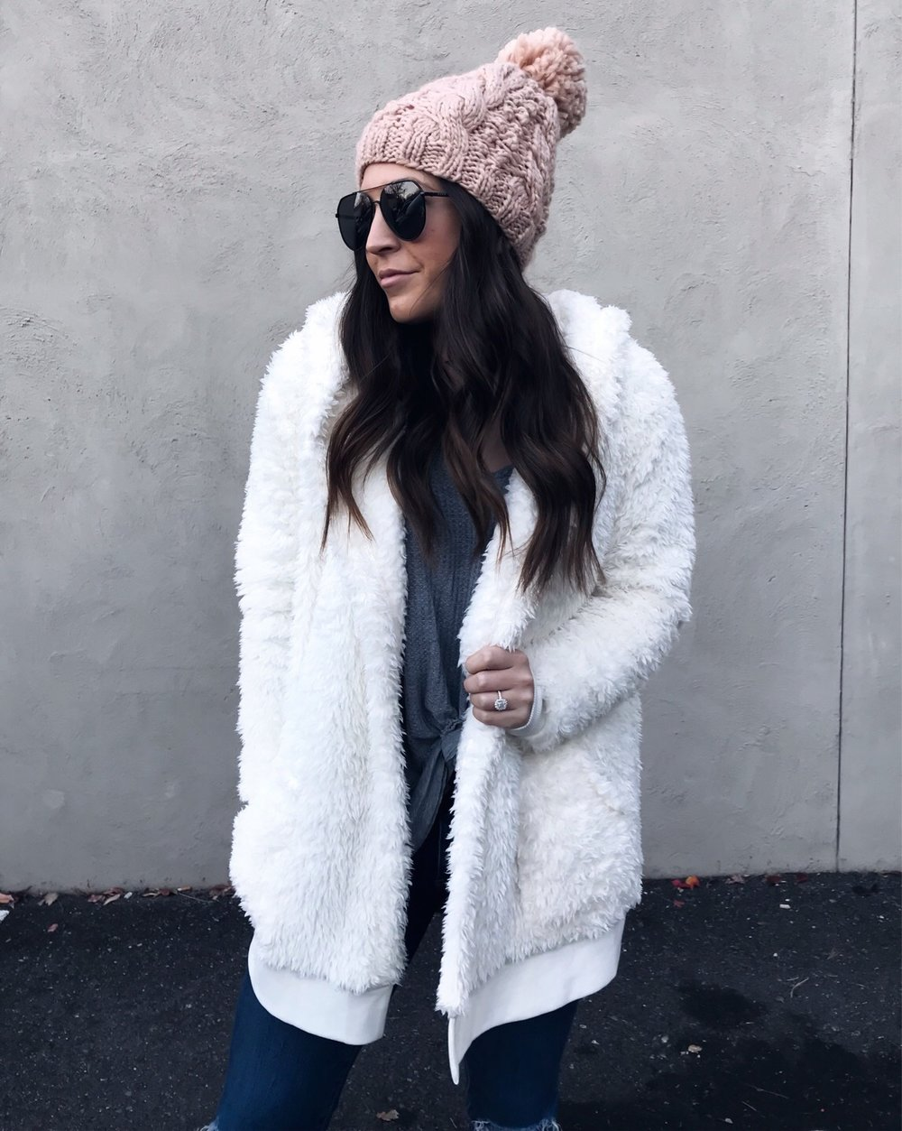 Weekend Sales & Instagram Round Up | Pine Barren Beauty | winter fashion, winter outfit idea, winter essentials, teddy coat, blush beanie, cozy outfit idea
