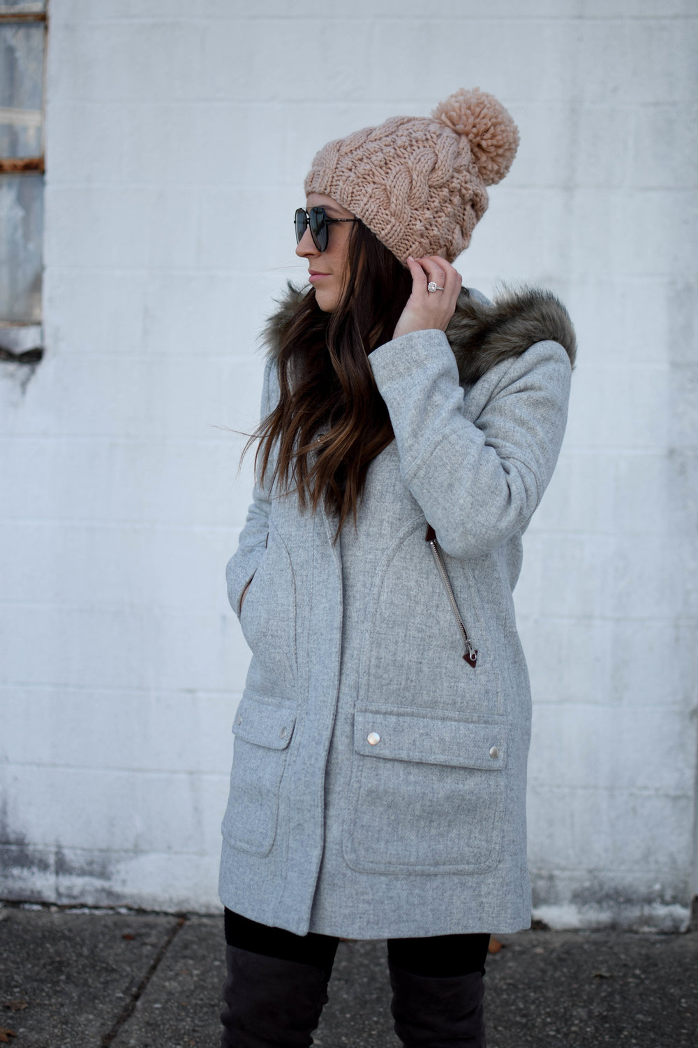 Weekend Sales + Free Shipping Day | Pine Barren Beauty | winter fashion, winter outfit idea, winter outfit inspiration, cozy sweater, sweater weather, winer coat, jcrew coat, jcrew sale