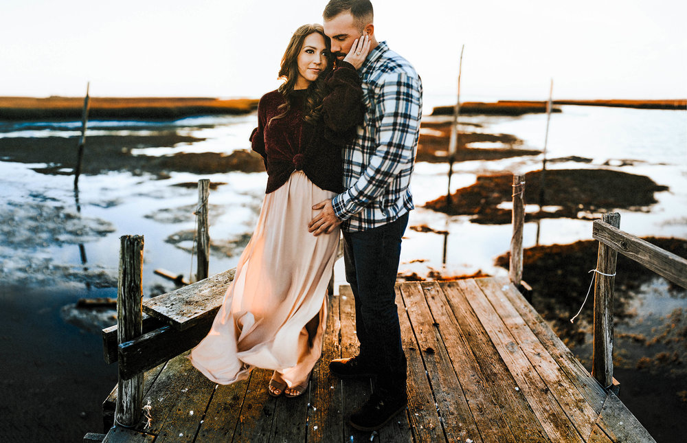 The Best of 2017 | Pine Barren Beauty | engagement photos, engagement photo ideas, what to wear for fall engagement photos, engagement photos on the water, engaged, wedding inspiration