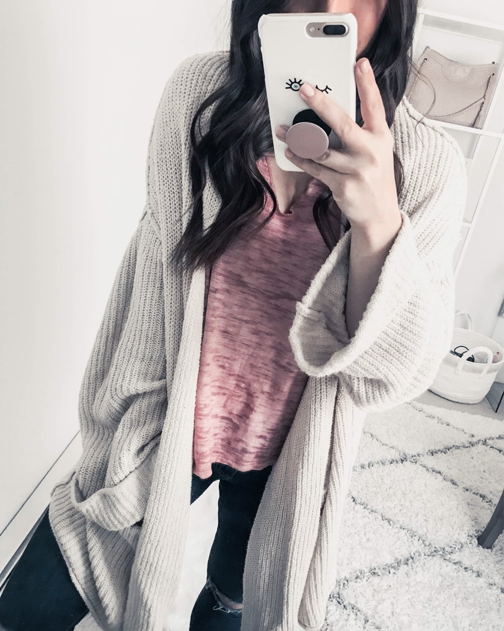 Instagram Round Up | Pine Barren Beauty | outfit of the day, cozy vibes, cozy outfit idea, free people cardigan, oversized cardigan