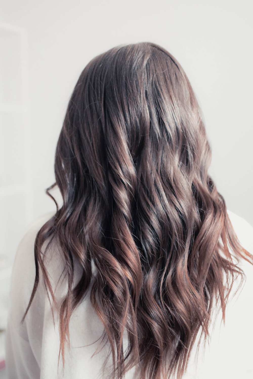 How to Curl Your Hair with a Wand | Pine Barren Beauty | dark hair, hair goals, hair vibes, loose waves, hair tutorial