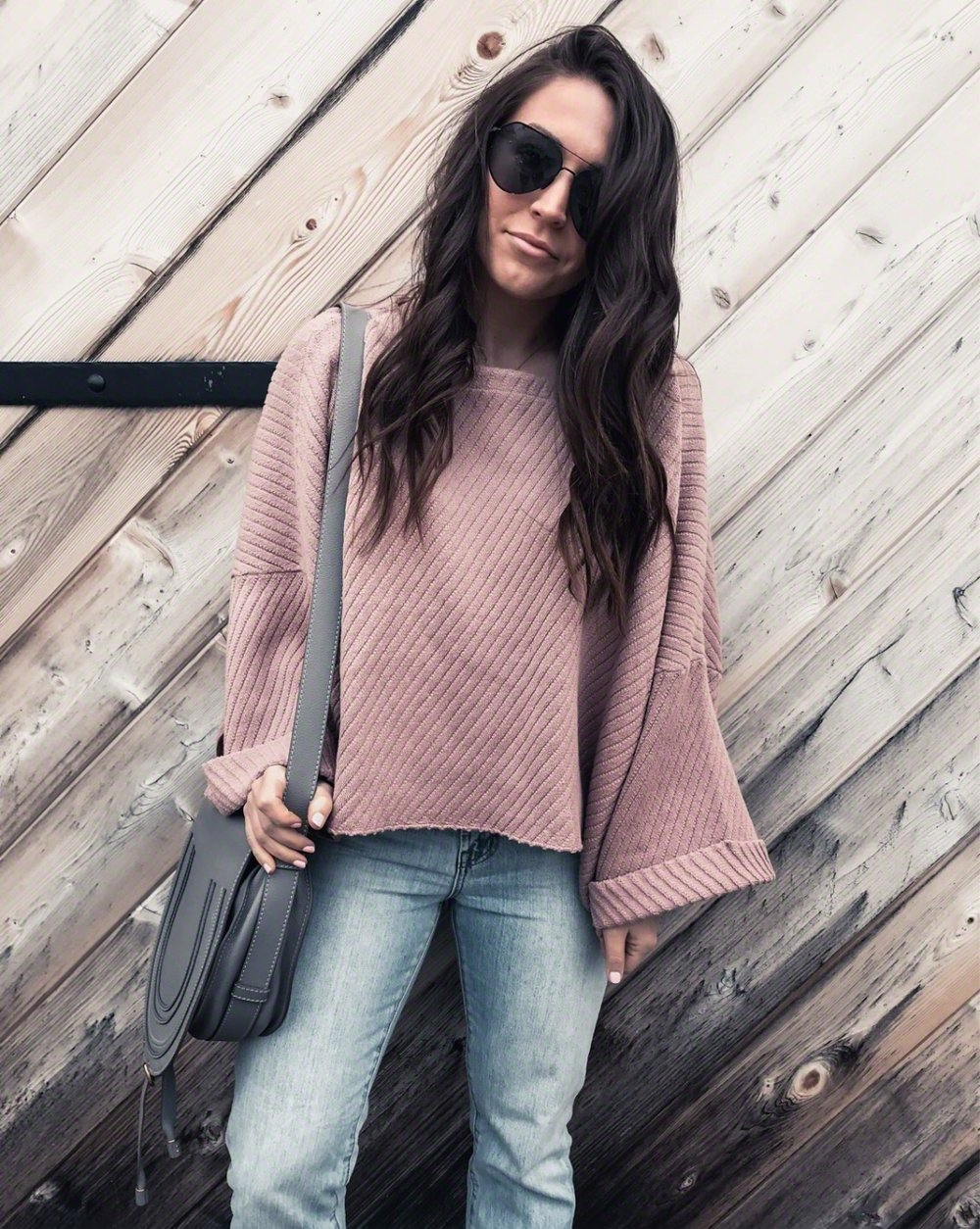 Must Have White Top for Spring | Pine Barren Beauty | spring outfit idea, spring transition outfit idea, blush oversized sweater, free people sweater, light wash denim, madewell denim, outfit of the day