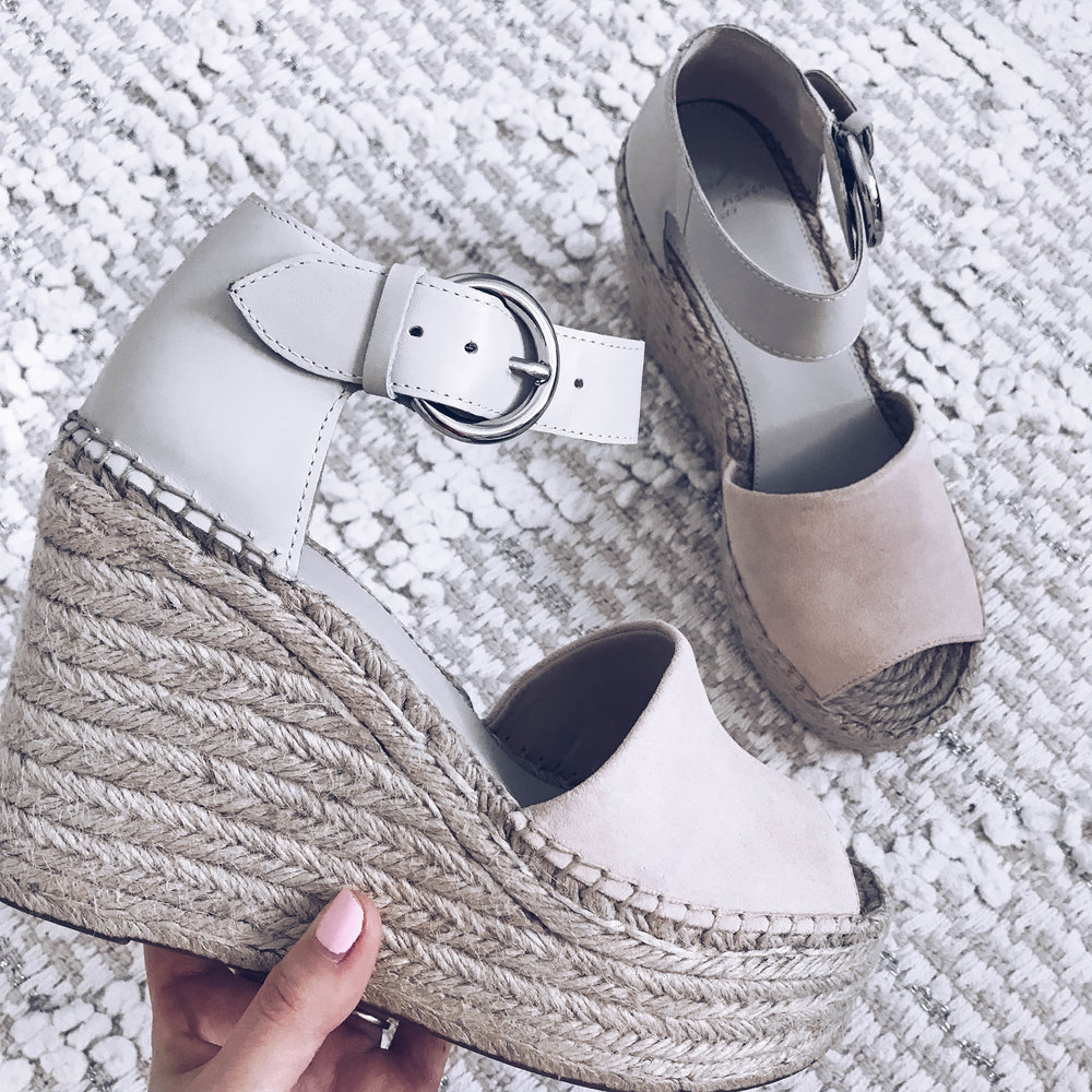 How to Beat the Winter Blues | Pine Barren Beauty | winter blues, spring transition, Marc Fisher espadrille wedges
