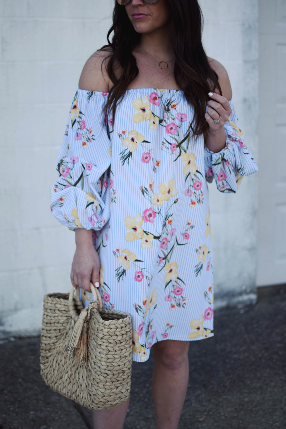 Floral Dress for Easter | Pine Barren Beauty | easter outfit idea, easter dress, floral dress for spring, spring fashion, spring outfit idea, what to wear to a spring wedding