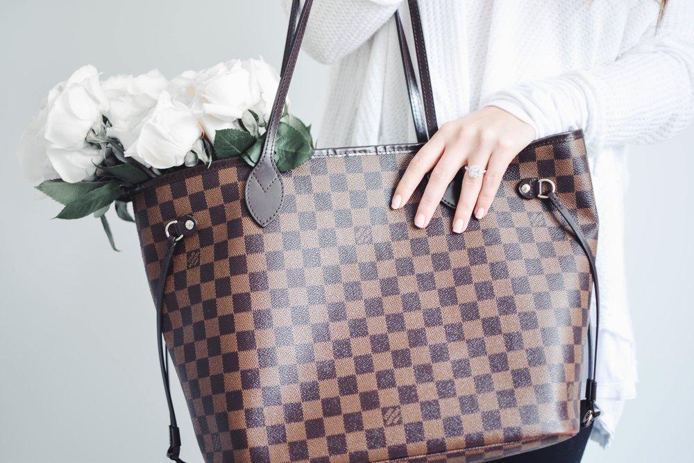 Louis Vuitton Never Full MM Review | Pine Barren Beauty | Louis Vuitton, designer handbag, never full review