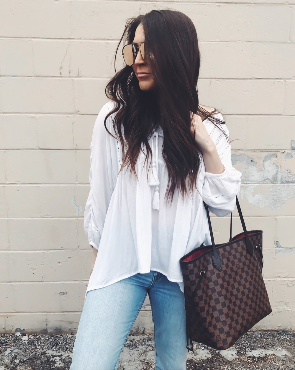 Instagram Round Up | Pine Barren Beauty | spring outfit idea, flowy white top for summer, high waisted denim