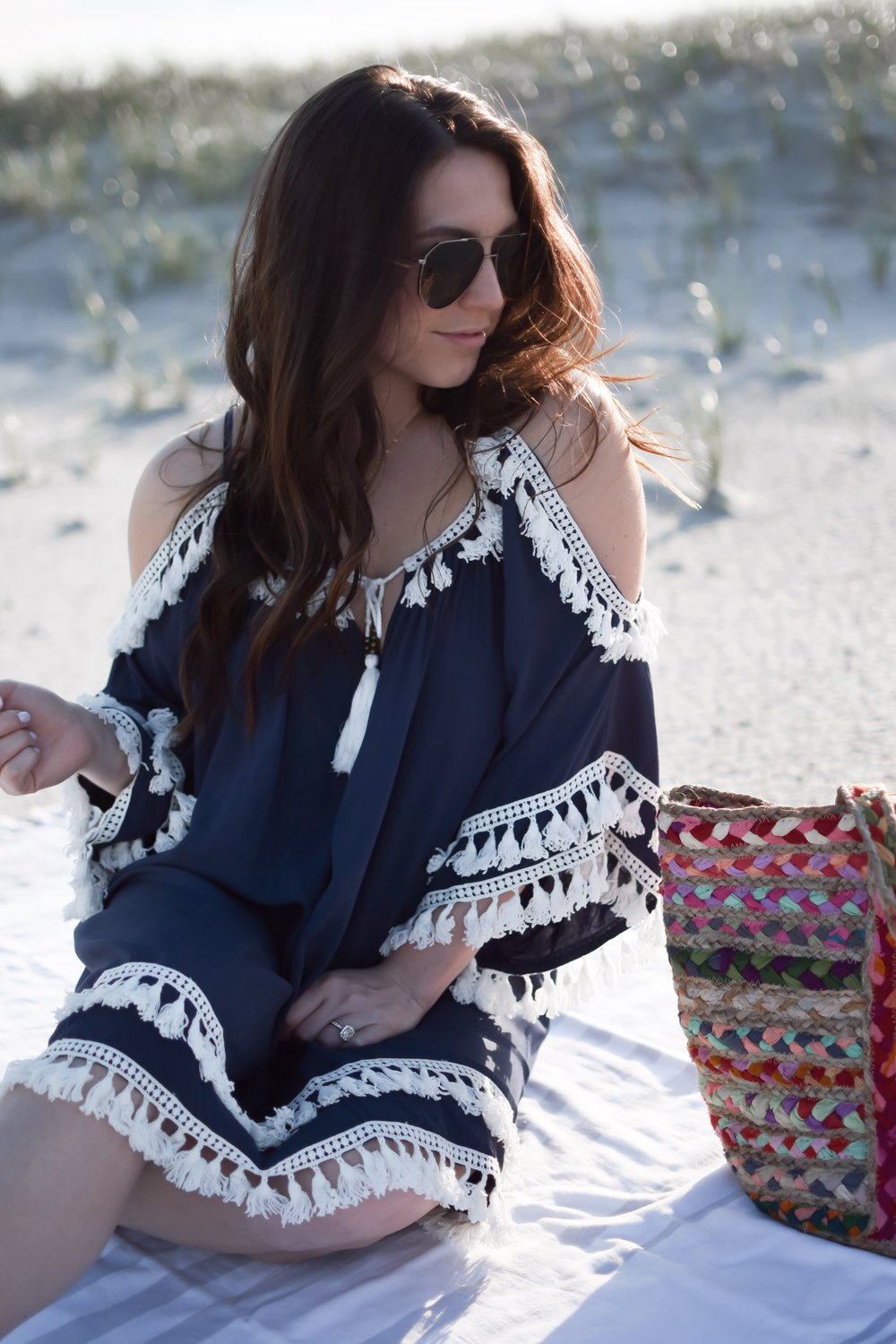 10 Beach Cover Ups Under $100 | Pine Barren Beauty | tassel beach cover up, swim cover up, beach vibes, summer outfit, summer fashion, beach wear