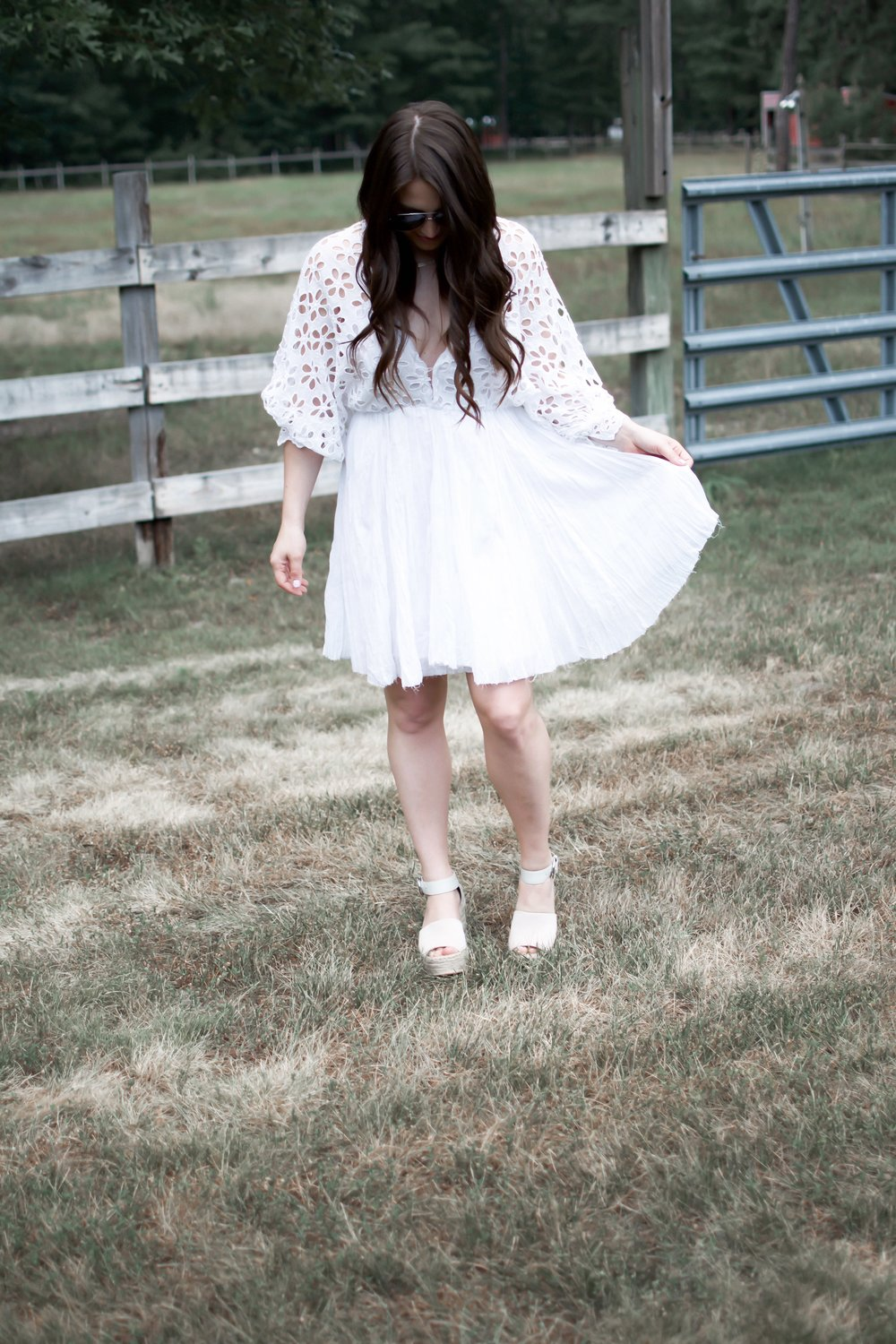 10 White Dresses for the Bride to Be | Pine Barren Beauty | free people dress, white mini dress, white lace dress, boho dress, boho outfit