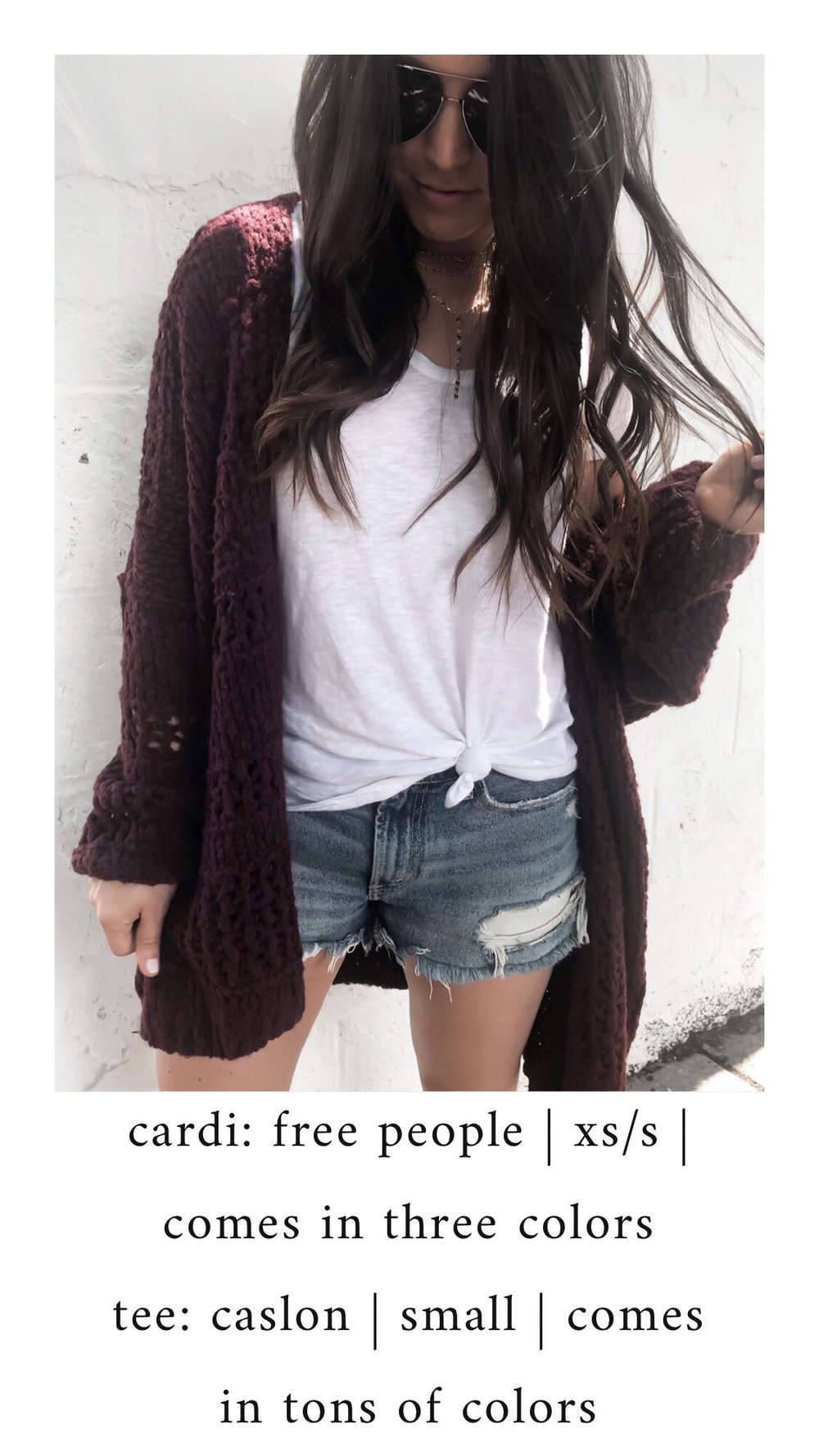 Nordstrom Anniversary Sale 2018: What I Purchased | Pine Barren Beauty | free people cardigan, basic white tee, denim cutoffs, fall transition outfit, fall outfit idea