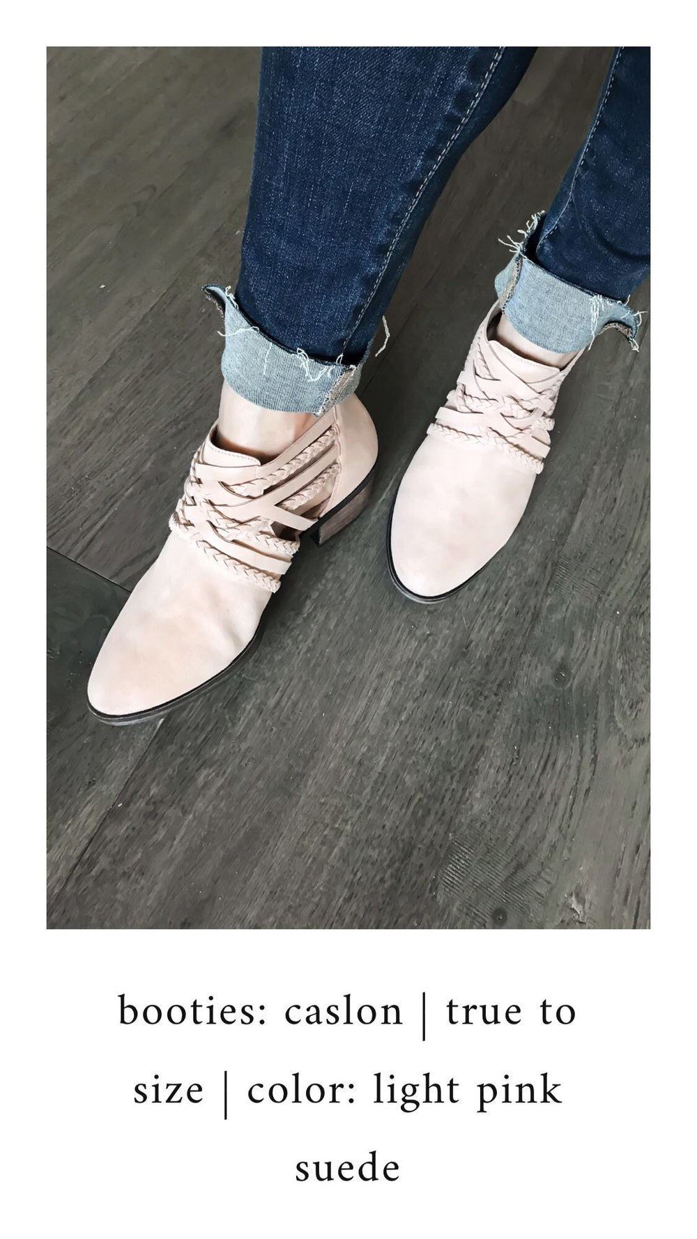 Nordstrom Anniversary Sale 2018: What I Purchased | Pine Barren Beauty | Caslon booties, light pink booties, braided booties, blush booties, fall shoes