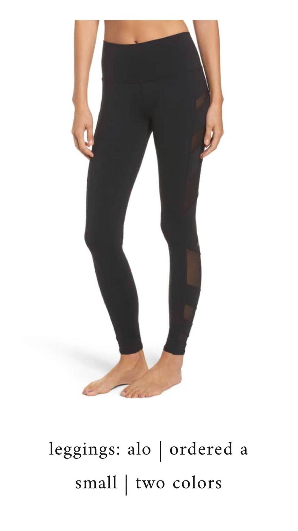Nordstrom Anniversary Sale 2018: What I Purchased | Pine Barren Beauty | alo yoga leggings, mesh insert leggings