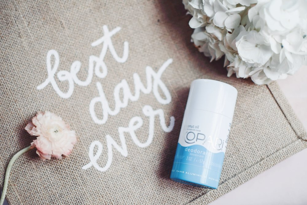 Wedding Day Must Haves | Pine Barren Beauty | kopari coconut deodorant, best day every tote bag by the little market