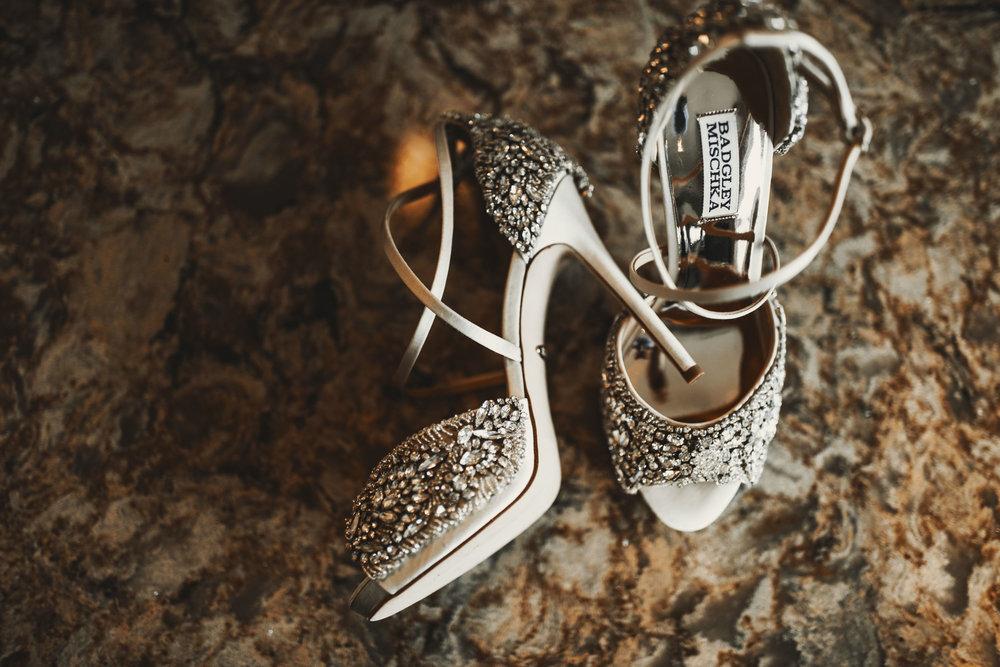 Wedding Shoes:  Badgley Mischka