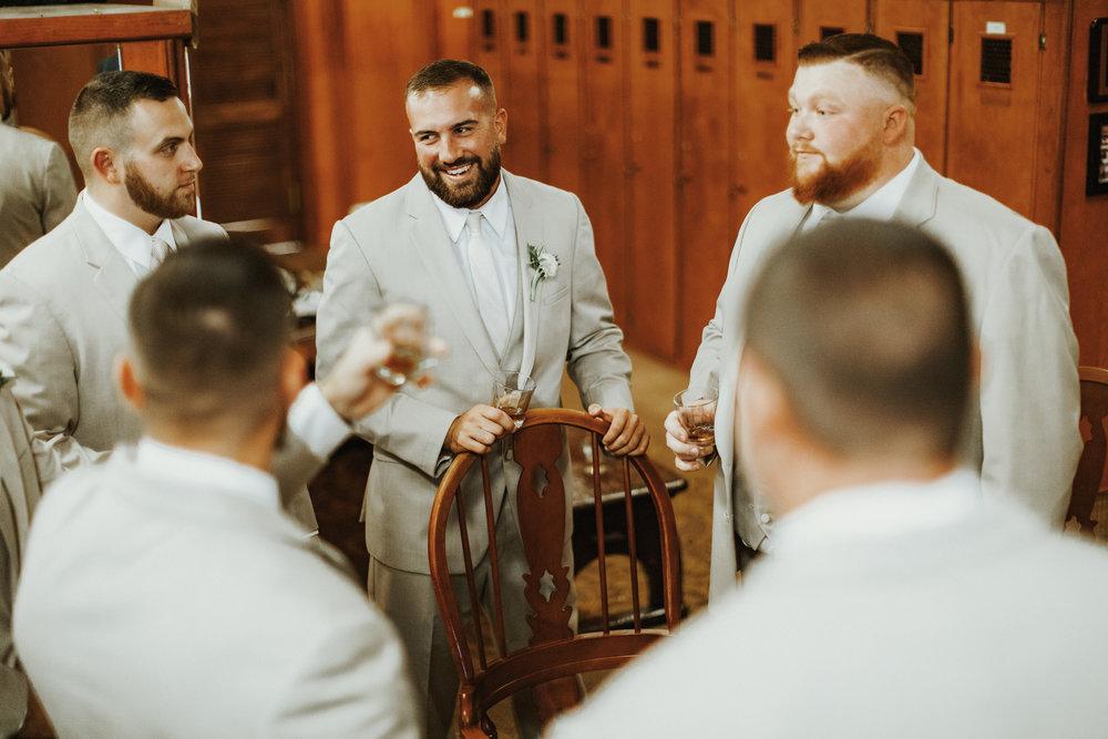 Our Wedding Photos: Part I | Pine Barren Beauty | groom prep photo ideas