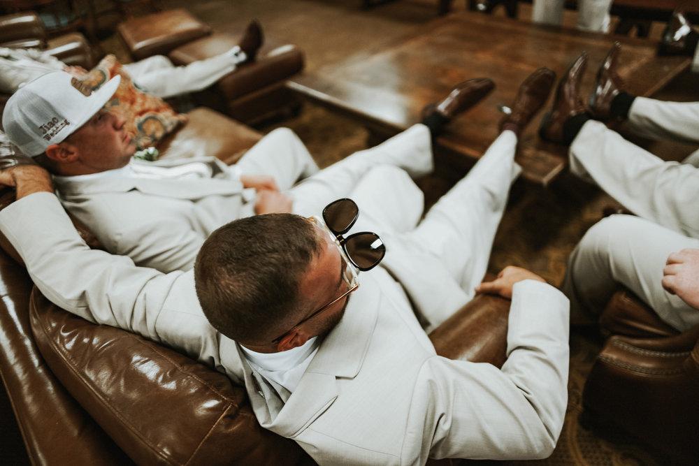 Our Wedding Photos: Part I | Pine Barren Beauty | groom prep wedding photos