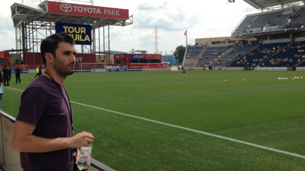 At Toyota Park during Tour Aguila (Club America vs Club León)