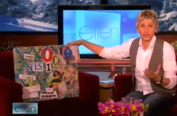 Ellen DeGeneres recently shared her vision board with her viewing audience.