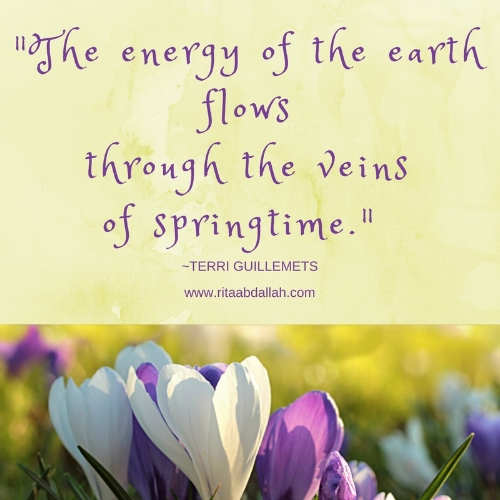 """The energy of the earth flows through the veins of springtime.""-Terri Guillemets"