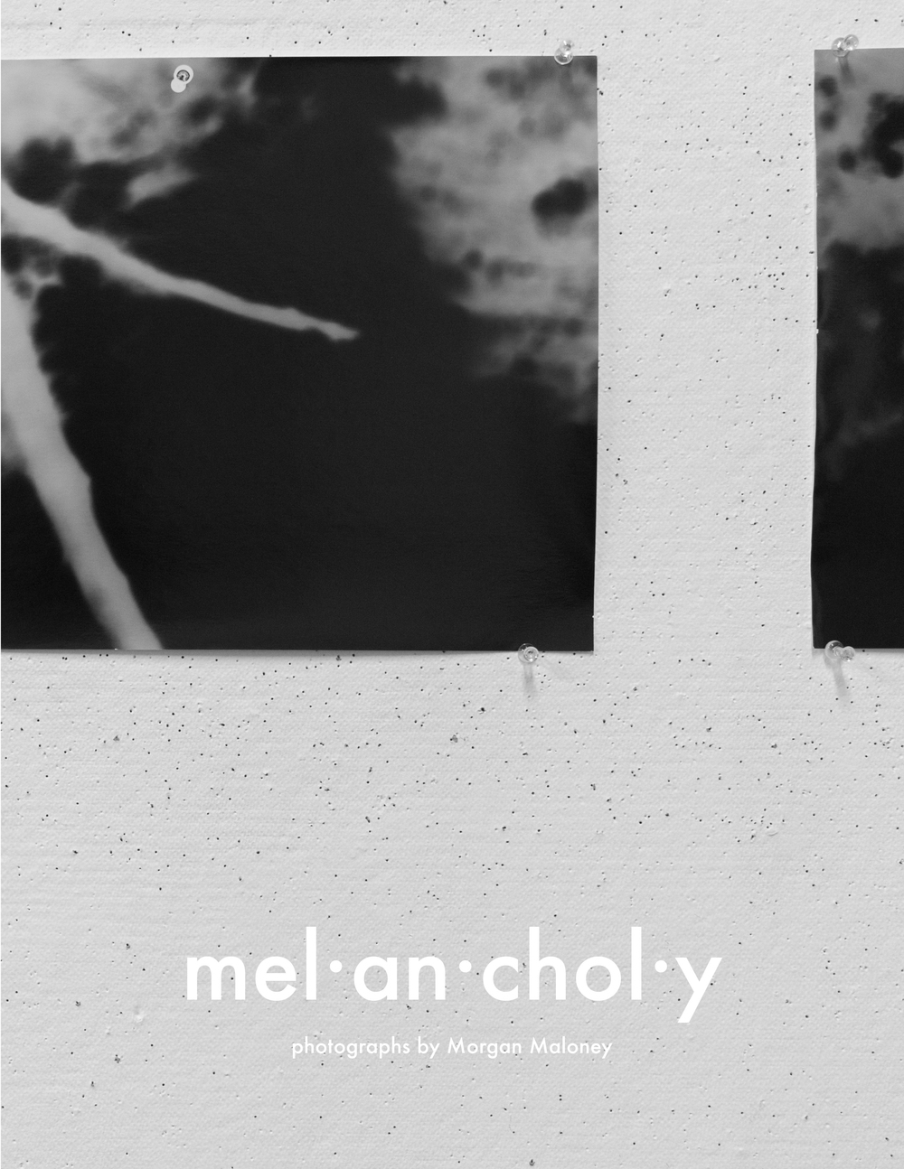 A selection of pages from the 2015 photo book  mel•an•choly