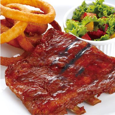 碳烤豬肋排餐  (  半份  )     Grilled Ribs (Half)  $ 650