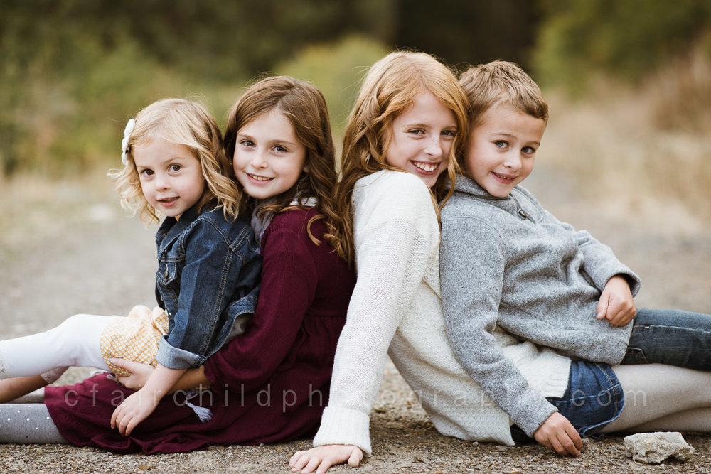 The Simpson children, taken in September, during their family session.