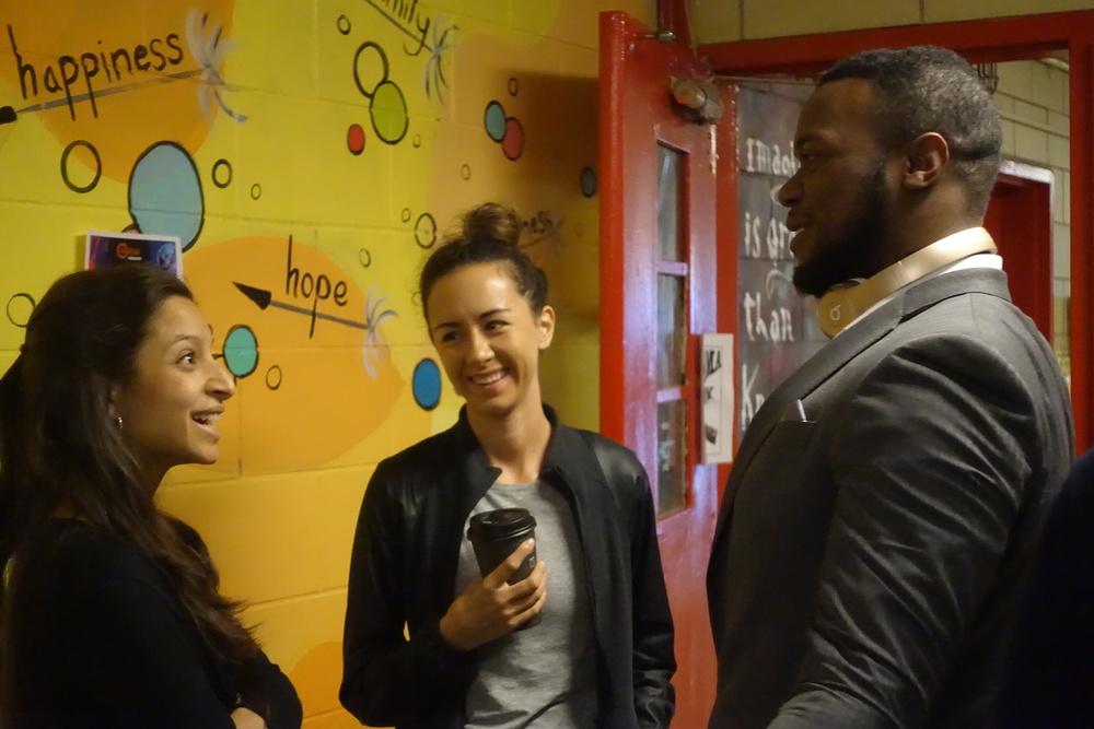 Breakers chat in BTA hallways