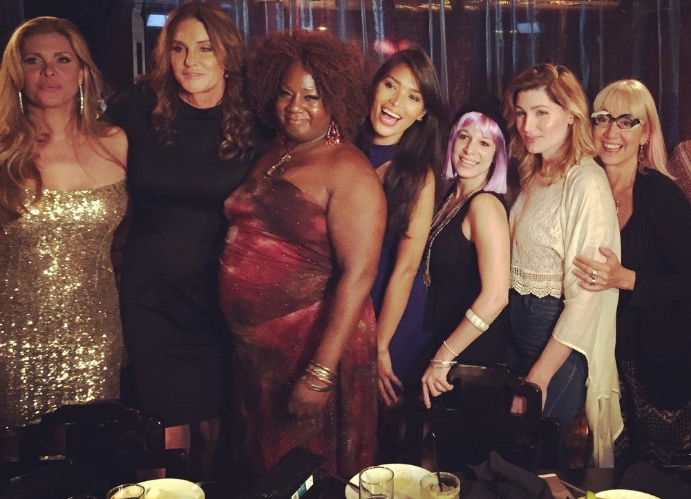 Allie (purple hair) with Caitlyn Jenner and Gender Proud