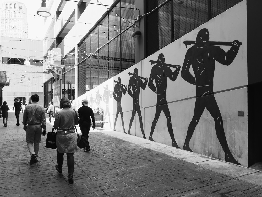 A Cleon Peterson mural downtown
