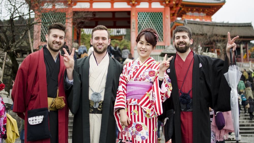 Zach and his business partners Josh Weprin (his brother), and Stephan Harman on a research trip to Japan.