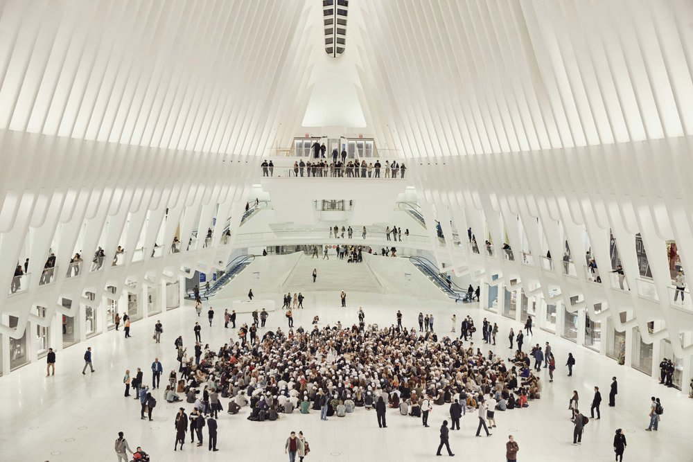The Big Quiet did a pop up meditation open to the public at the Oculus in NYC.