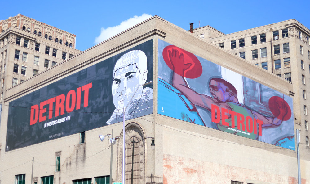Marlo Broughton mural of DETROIT -- Curated by Playground Detroit + Brooklyn Outdoor