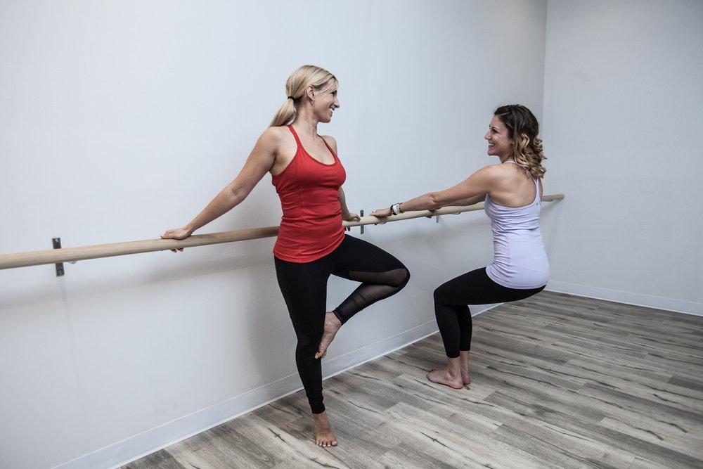 Polly and Erika at Fusion Yoga