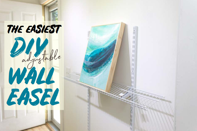 The Easiest DIY adjustable wall easel for artists {tutorial}