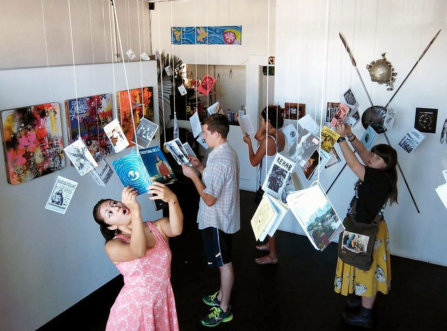 San Diego Zine Library Pop UP at Chicano Art Gallery