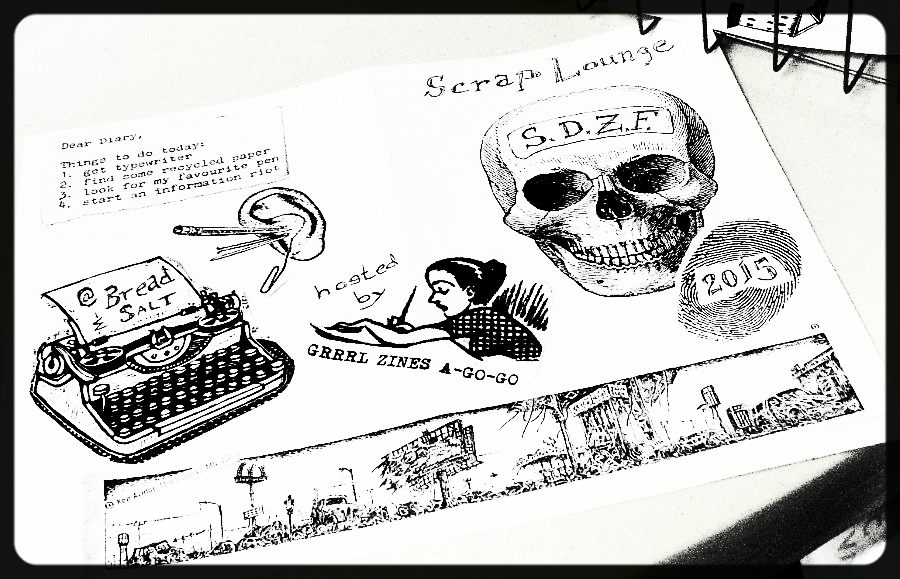 ANNUAL SCRAP LOUNGE HOSTED BY GRRRL ZINES A-GO-GO