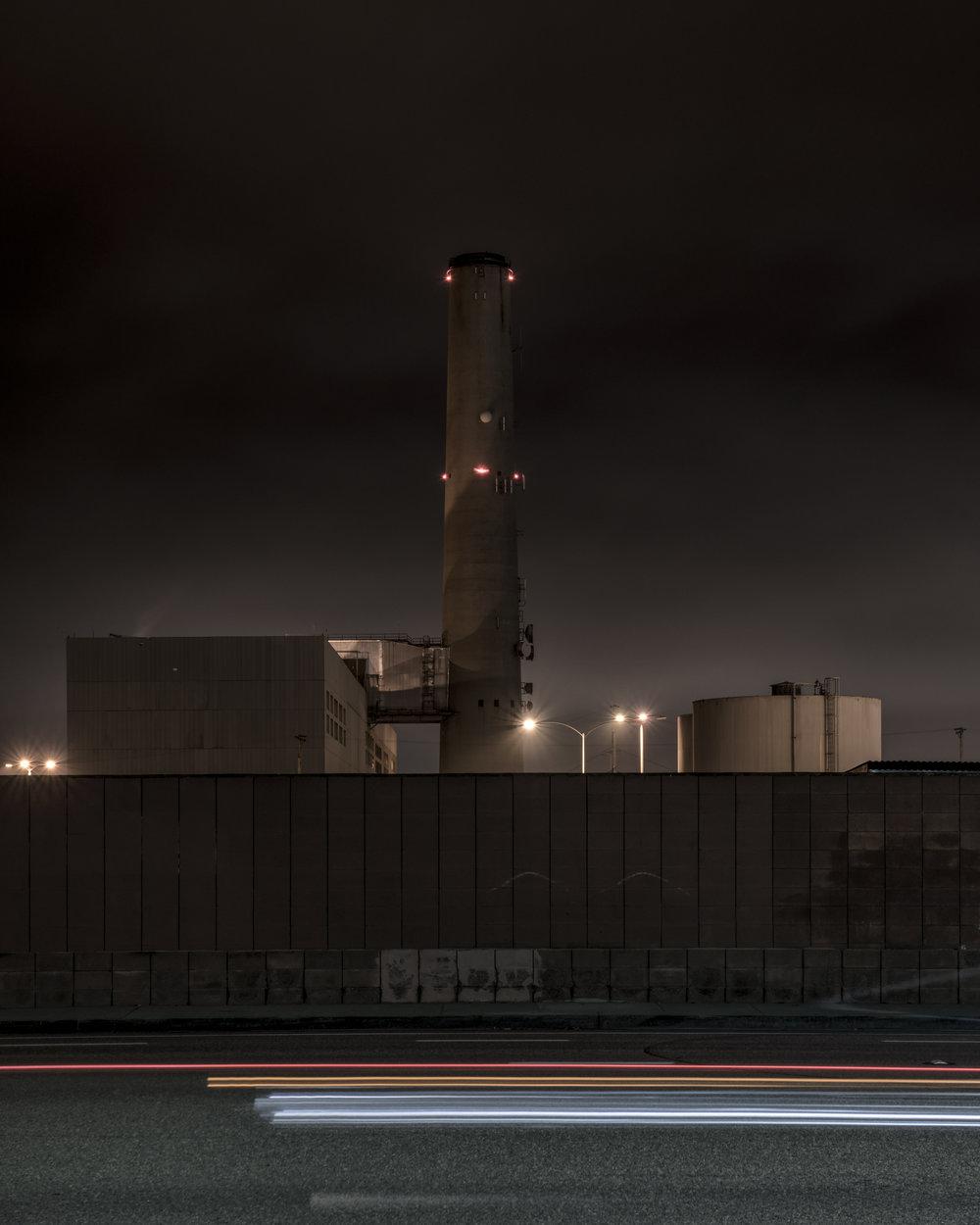 Encina Power Station (Light Streak Variation III)