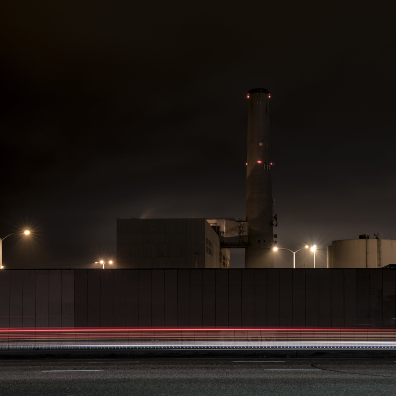 Encina Power Station (Light Streak Variation I)