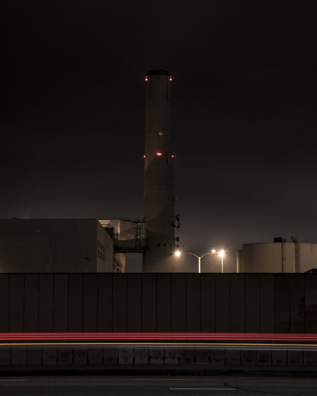 Encina Power Station (Light Streak Variation II)