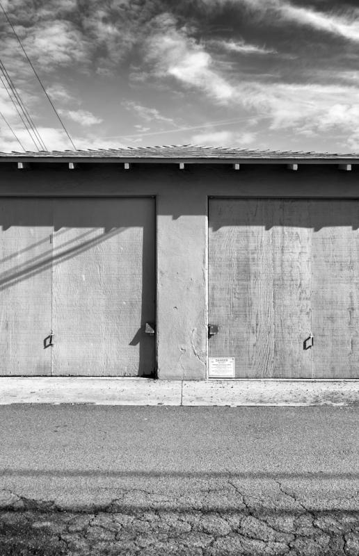 Garage Doors With Poison Warning