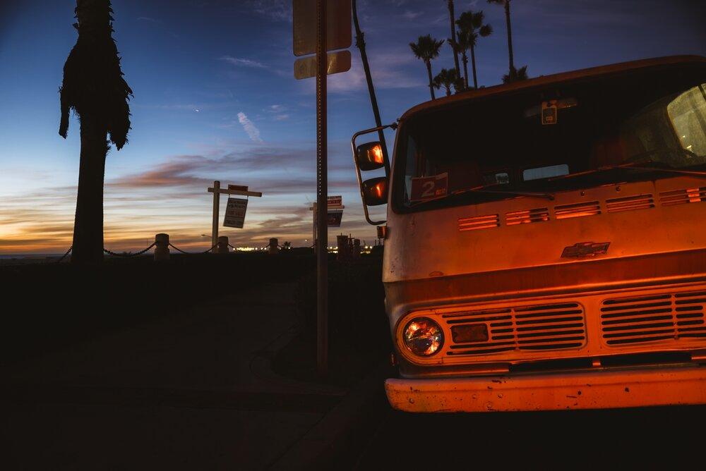 Brake light Sunset