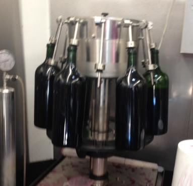 Bottling the 2014 Cabernet