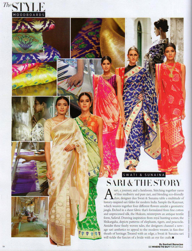 Swati & Sunaina launch featured in Harper Bazaar August 2015 issue.
