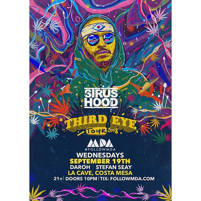 The @followmda fam is bringing @sirushood into town tonight for his Third Eye Tour alongside the talented @the_legit_daroh & @stefanseay ⚡️ It's gearing up to be a real sweaty night at the cave, don't miss out on the action! Hit us up for Guest List or Ticket info 🙌🕉 . . . . . . . . . . . . #followmda #ocfam #3ET #3rdeyetribe #openyourmind #house #techno #techhouse #deephouse #meditation #underground #SoundHealing #vibrational #events #LA #OC #thirdeye #Chakra #openyourmind #goodvibes #love #goodmusic #deepervibes #spirtuality #frequency #openyourheart #yoga #housemusic #Heartspace