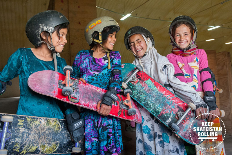 Skateistan is supported by pro skaters all over the world and is getting little boys and girls into skateboard together. Breaking down boundaries of whats normal for everyone and instilling respect for each other.